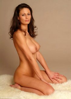 Brunette goddess Tina shows her big natural tits with perfect hard nipples