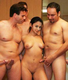 Hot arab girl loves group sex
