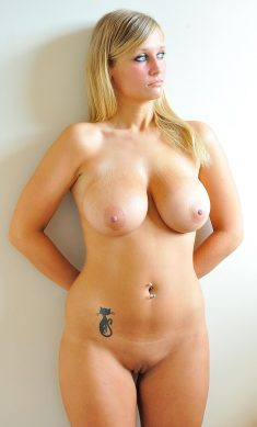 Nude Blonde With Massive Tits