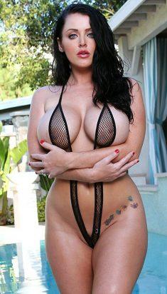 Big boobs pornstar Sophie Dee in sling bikini