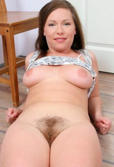 Hot Brunette With Hairy Pussy