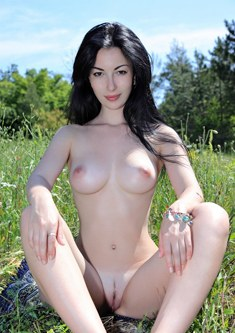 Melani A nude in nature