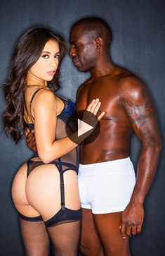 Amazing bunette Jynx Maze loves big black cock
