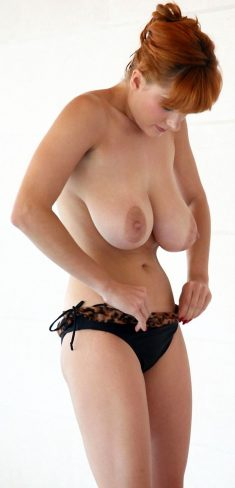 Beautiful redhead Milf with big natural tits