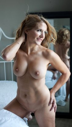 Horny Wife Naked In Bedroom