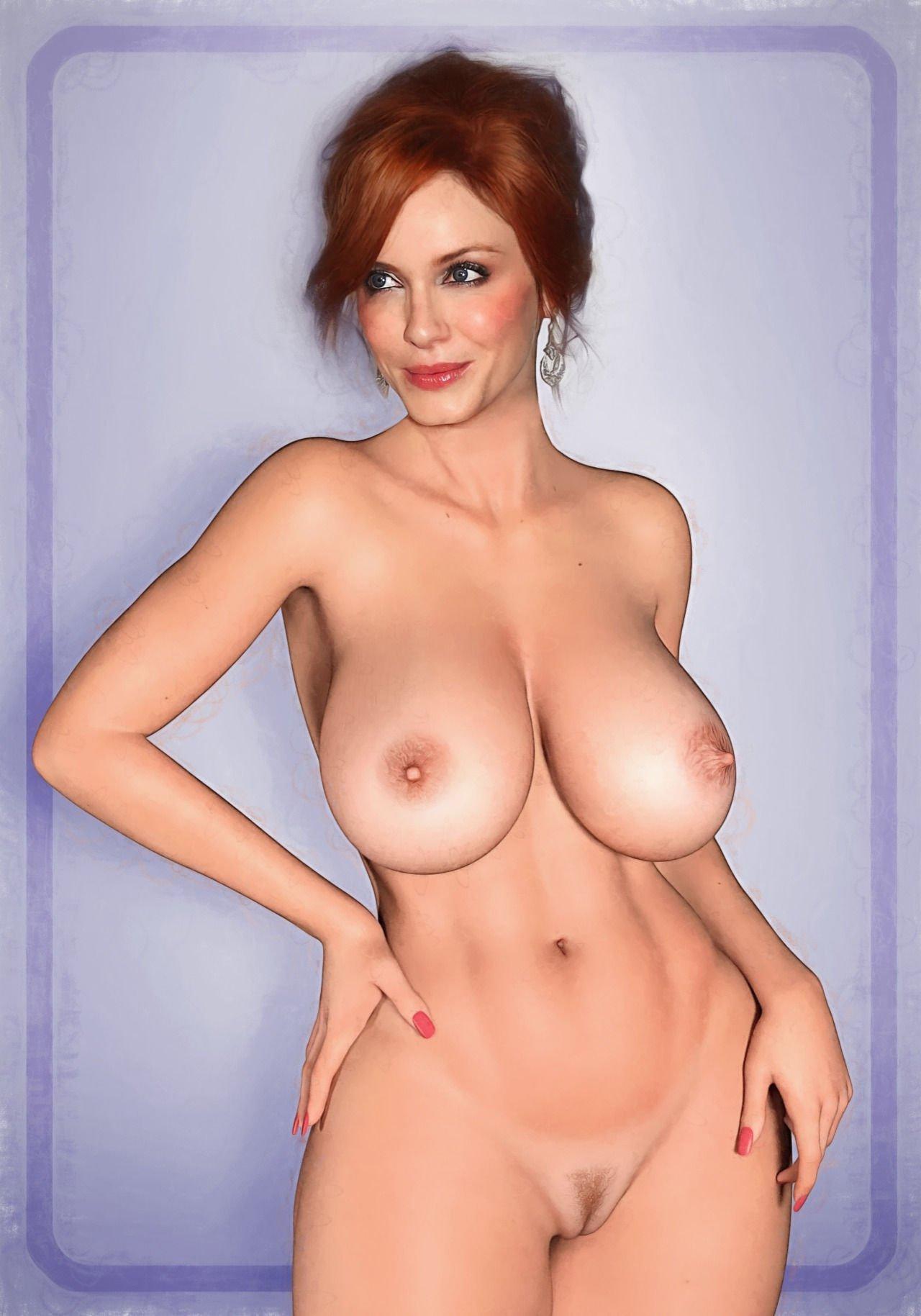 Christina hendricks topless — photo 5