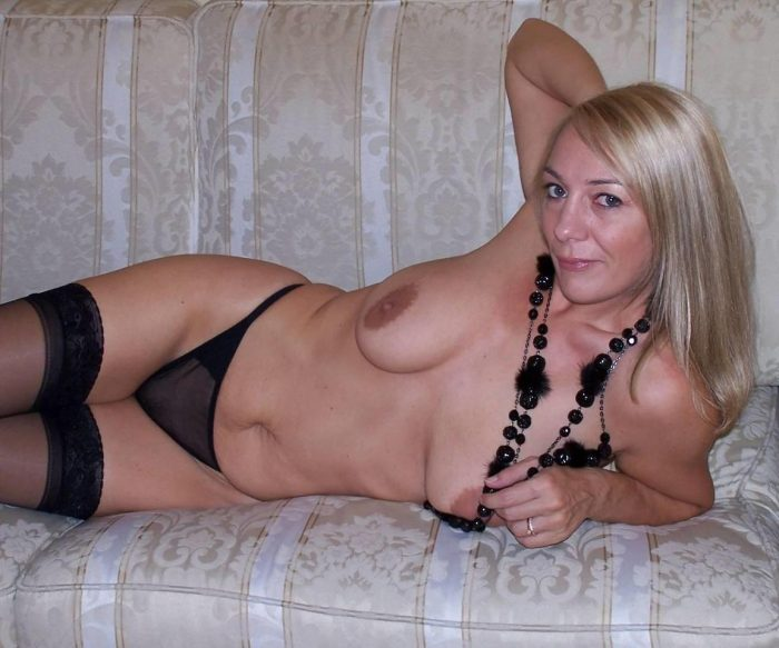The naughty milf