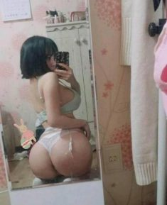 Asian girl has a great ass on this sexy picture