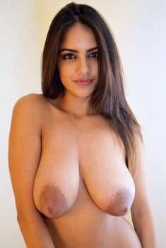 Busty indian girl showing sagging boobs