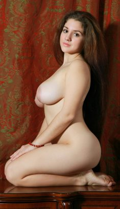 Long hair girl with nice big breasts