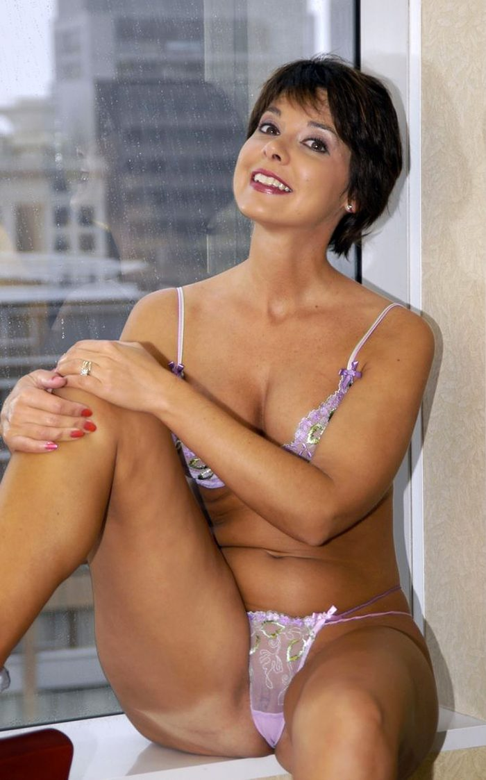 Short Hair Brunette Milf