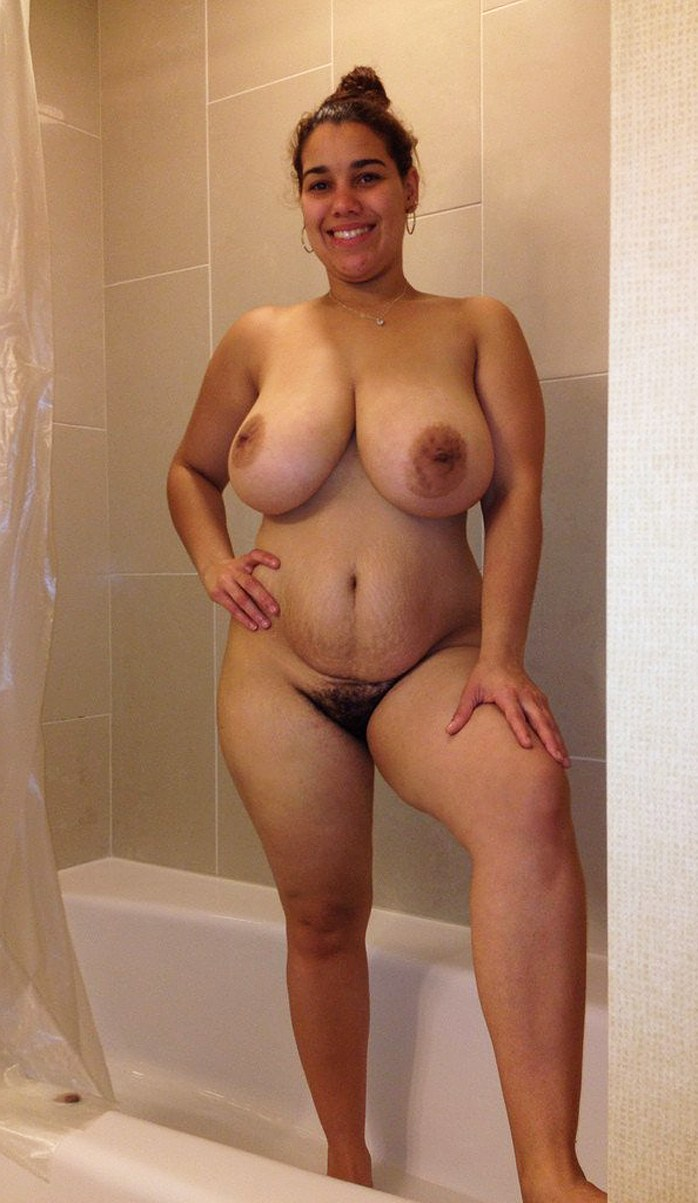 Amateur Latin with huge breasts