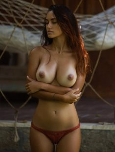Beautiful Russian redhead Mary Shum naked