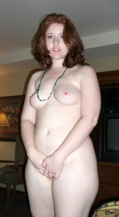 Naked plump amateur woman