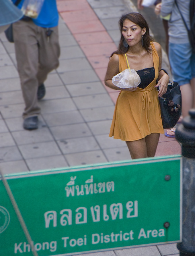 Coconutgirl on the street of Thailand. Hot she is.