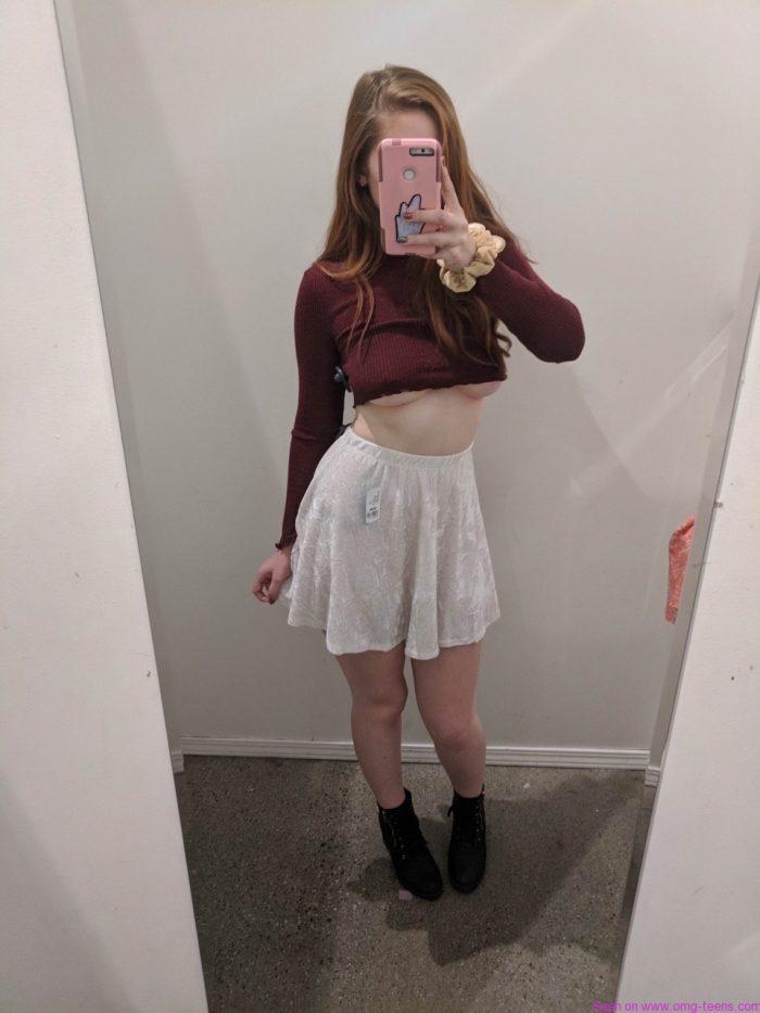 Underboobs braless teen