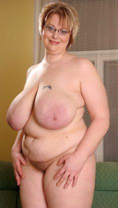 Blonde BBW Diana with huge boobs
