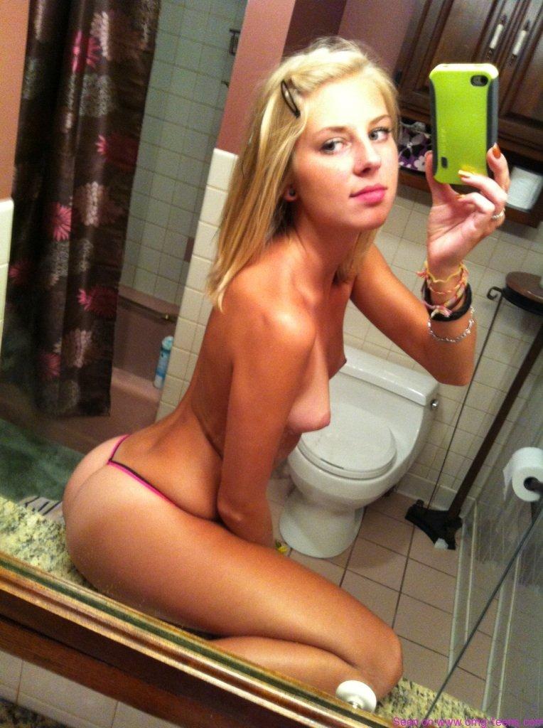 OMG-Teens |   Nice blonde teen topless selfie