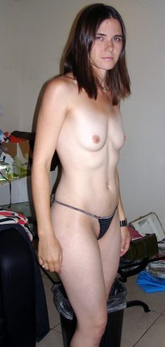 Amateur girl with small tits