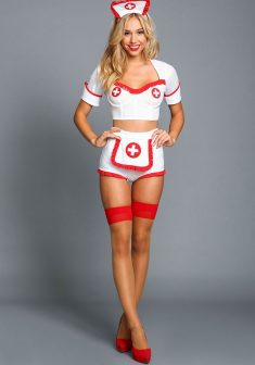 Beautiful blonde Alexis Ren as a nurse