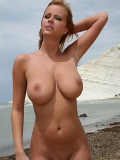 Blonde with perfect tits