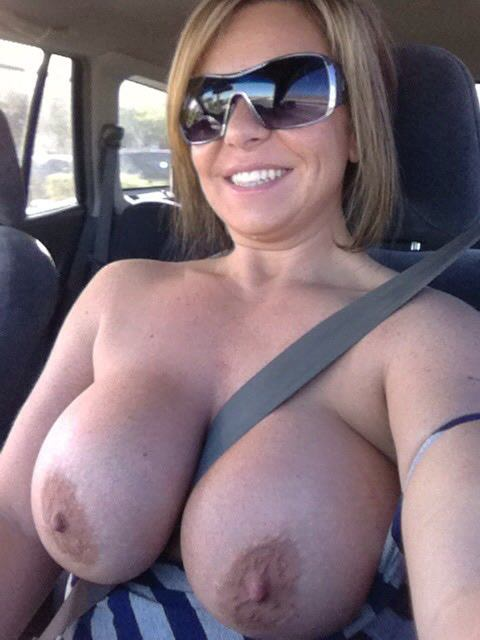 Granny got a big creampie in the parking lot