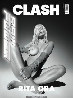 Rita Ora nude posing for Clash Magazine