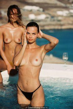 Moa Aberg and Victoria Germyn in bikini and topless