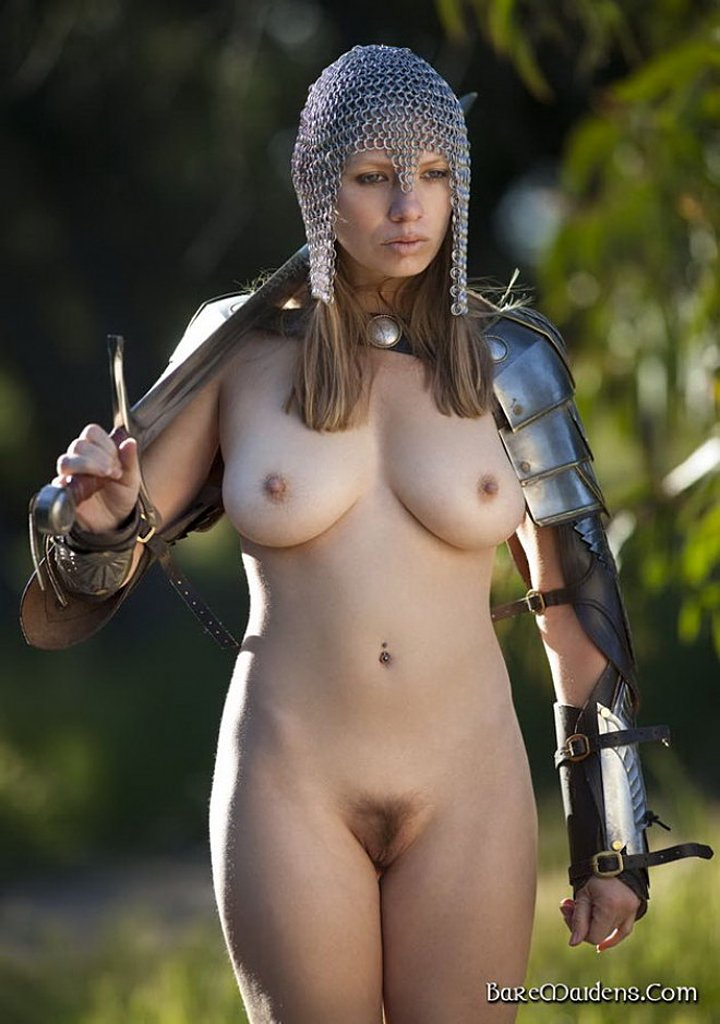 Armored naked girls, slutty pics obscured face