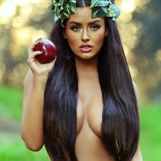 Abigail Ratchford topless for 2016 Calendar