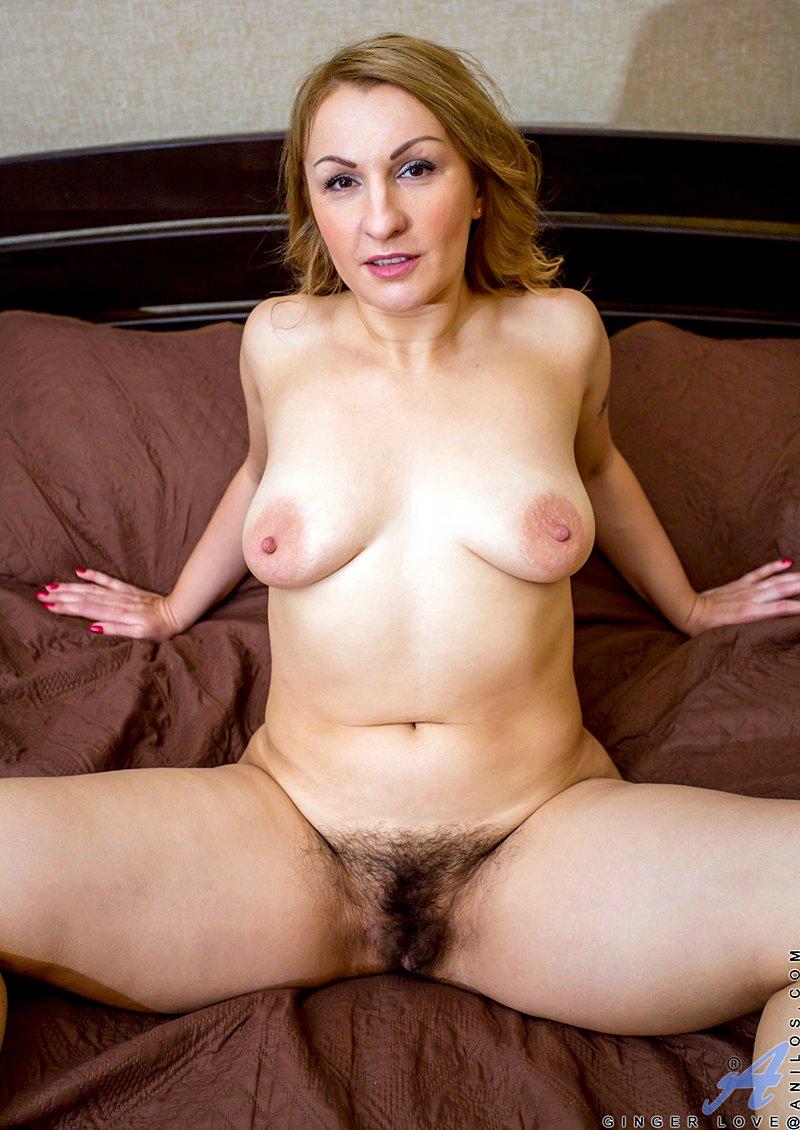 Sexy Milf Dana Karnevali aka Ginger Love showing her hairy pussy - Image 3