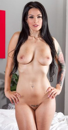 Amazing busty brunette Katrina Jade