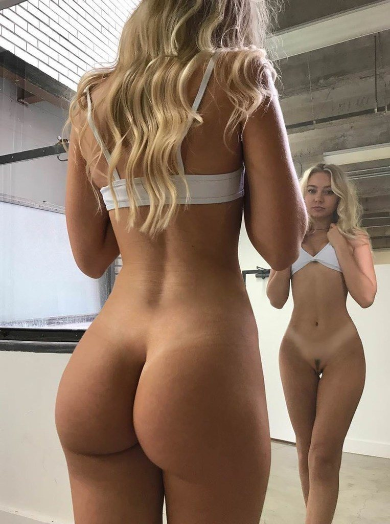 Hot blonde with perfect sexy body