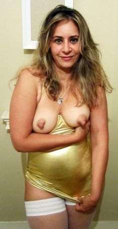 Hot MILF with puffy nipples