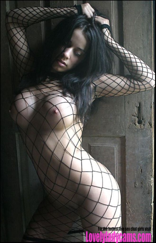 Sexy tits in a net