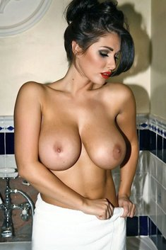 Mature babe with massive tits