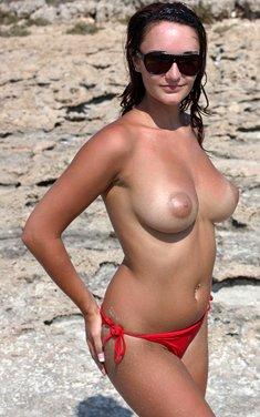 Sam Busty Bikini Babe