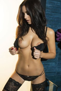 Sexy brunette with sexy tits