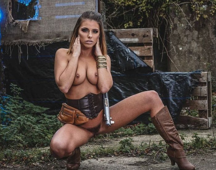 Adriana Chechik as a Jedi Rey, Star Wars XXX parody