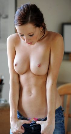Sophia undressing at home