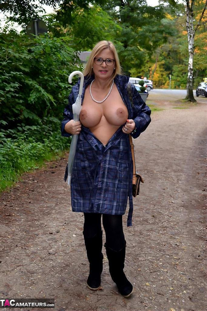 Busty naked women walking long blonde hair Mature Woman With Big Tits Chrissy In Glasses Walks Naked In The R Sexpin Net Free Porn Pics And Sex Videos