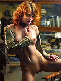 Naughty sexy redhead