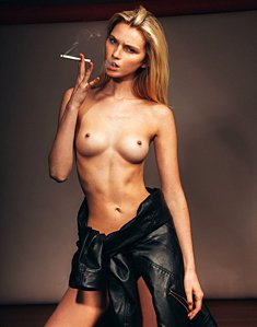 Alexa Reynen smoking topless