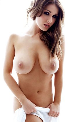 Busty Lucy Pinder nude for Nuts Magazine