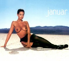 Busty Kira Eggers topless for 2002 calendar