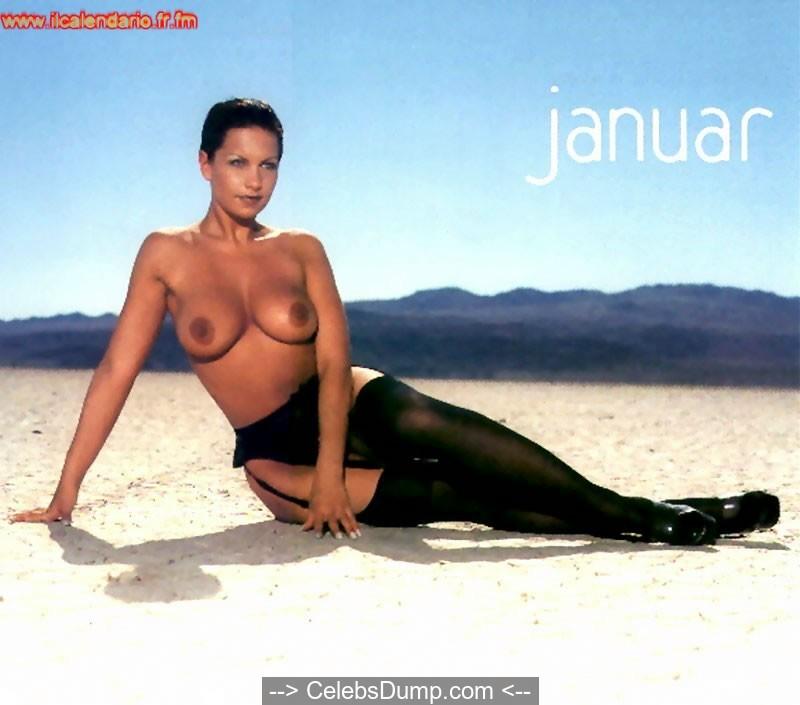 Busty Kira Eggers topless for 2002 calendar