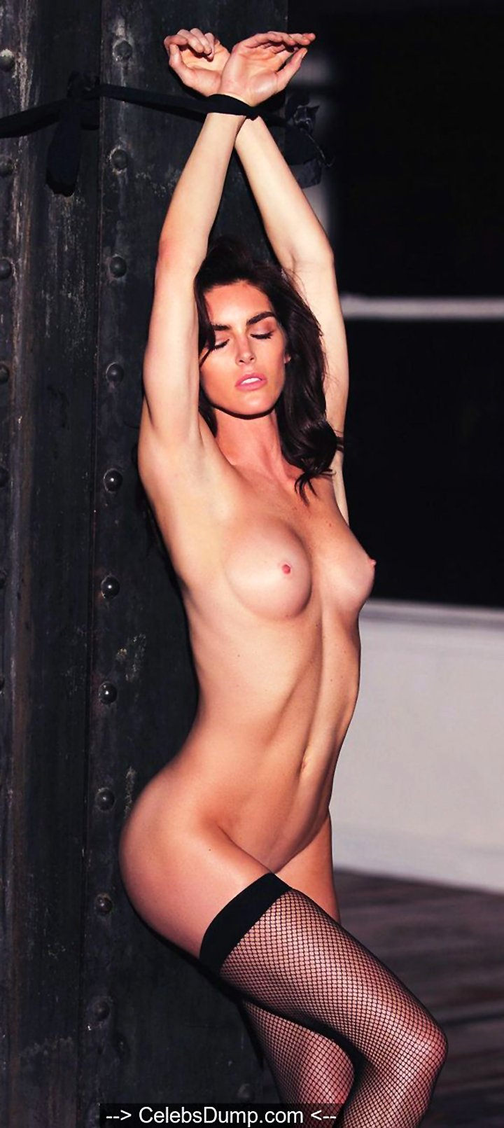 Hilary Rhoda topless and nude for Lui Magazine