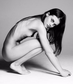 Rachael Lange naked black-&-white photoshoot