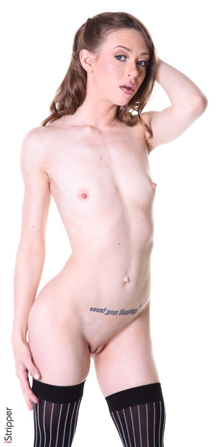 Flexible girl Alexa Nova shows her slim body in sexy stockings