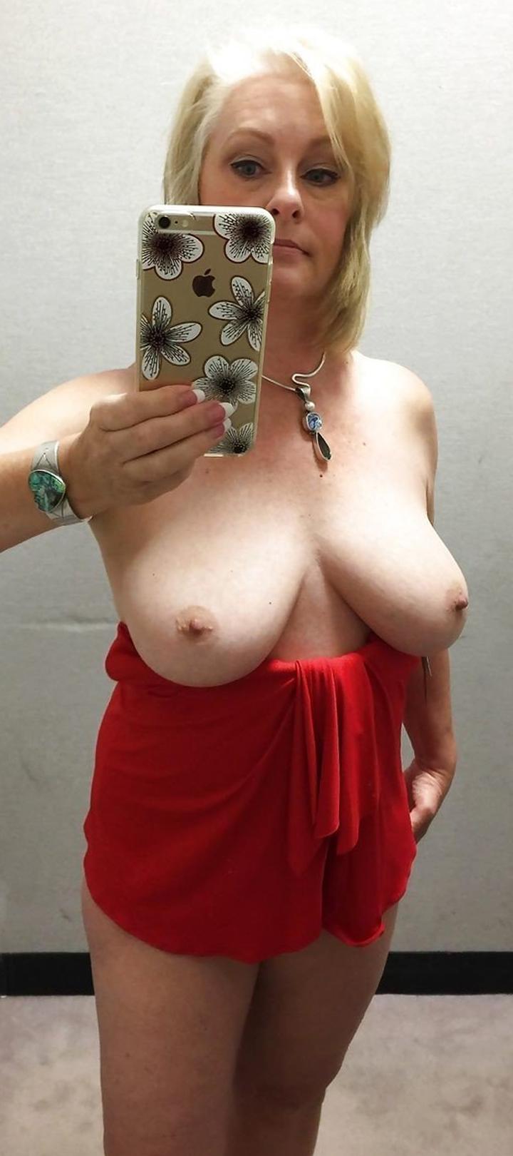 Mature women love naked selfies